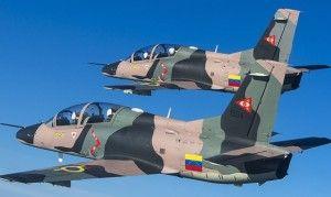 Aviones chinos caza K8. Crédito: La Patilla
